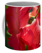 Sunlight On Red Hibiscus Coffee Mug by Carol Groenen