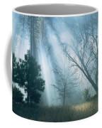 Sunlight Pierces The Morning Mist Coffee Mug
