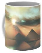 Sunrays Shine Down On Three Pyramids Coffee Mug