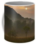 Sunrise And The Early Morning Fog Iron Coffee Mug