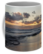 Sunrise At Bamburgh Beach Coffee Mug