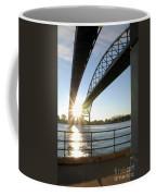 Sunrise Blue Water Bridges Coffee Mug
