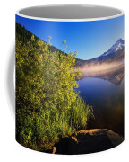 Sunrise Fog On Trillium Lake Coffee Mug