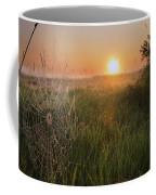 Sunrise On A Dew-covered Cattle Pasture Coffee Mug