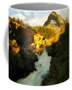 Sunrise On A Waterfall At Glacier  Coffee Mug