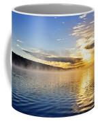 Sunrise On Foggy Lake Coffee Mug