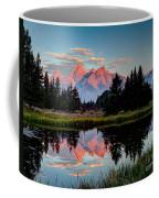 Sunrise On The Tetons Coffee Mug
