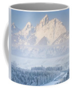 Sunrise Over A Snow-blanketed Landscape Coffee Mug