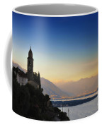 Sunrise Over An Alpine Lake Coffee Mug