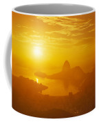Sunrise Over Rio De Janeiro And Sugar Coffee Mug