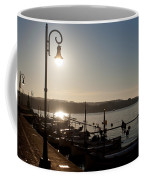 sunrise - First dawn of a spanish town is Es Castell Menorca sun is a special lamp Coffee Mug