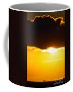 Sunset And Cloud At Sea Coffee Mug