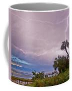 Sunset And Lightning Coffee Mug