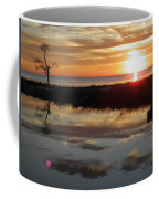 Sunset And Tidal Pool Cape Charles Va Coffee Mug