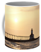 Sunset At The Lighthouse Coffee Mug