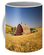 Sunset Barn And Wheat Field Steptoe Coffee Mug