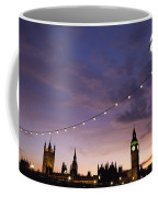 Sunset Behind Big Ben And The Houses Coffee Mug