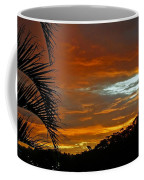 Sunset Behind The Palms Coffee Mug by Kaye Menner