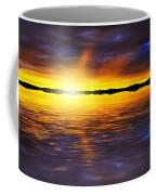 Sunset By The River Coffee Mug by Svetlana Sewell