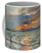 Sunset In Aegean Sea Coffee Mug