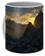 Sunset In The Stony Mountains Coffee Mug by Hakon Soreide