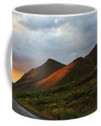 Sunset Light Hitting The Mountains Coffee Mug