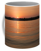 Sunset On Geist Reservoir In Lawrence In Coffee Mug