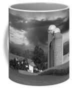 Sunset On The Farm Bw Coffee Mug by David Dehner