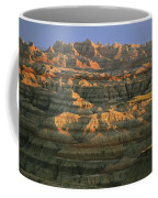 Sunset On The Geological Formations Coffee Mug