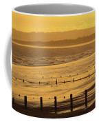 Sunset Over Beach In Winter Youghal Coffee Mug