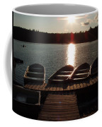 Sunset Over Bear Pond Sabattis Adventure Camp Coffee Mug