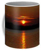 Sunset Over Silver Lake Sand Dunes Coffee Mug