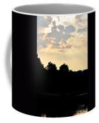 Sunset Silhouettes Over Star Lake Coffee Mug