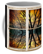 Sunset Tree Silhouette Abstract Picture Window View Coffee Mug