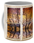 Sunset Tree Silhouette Colorful Abstract Picture Window View Coffee Mug by James BO  Insogna
