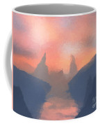 Sunset Valley  Coffee Mug by Pixel  Chimp
