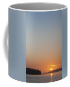 Sunset With The Mountains Of Vancouver Coffee Mug by Taylor S. Kennedy