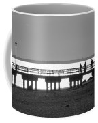 Sunsets On Coney Island In Black And White Coffee Mug