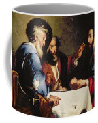 Supper At Emmaus Coffee Mug by Bernardo Strozzi