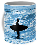 Surfer Silhouette Coffee Mug