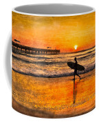 Surfer Silhouette Coffee Mug