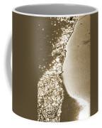 Surfs Edge In Sepia Coffee Mug