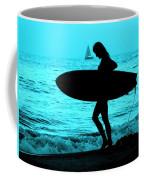 Surfs Up Blue Coffee Mug