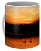 Swans In The Sunset Coffee Mug