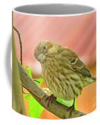 Sweet Finch Painted Effect Coffee Mug