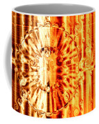Swirly Embossed Gold Coffee Mug