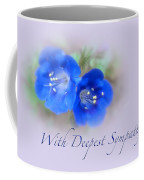 Sympathy Card - Blue Wildflower Coffee Mug