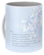Sympathy Greeting Card - Hairy Bittercress Wildflower Coffee Mug