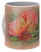 Sympathy Greeting Card - Peach Rose Coffee Mug