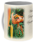 Sympathy Greeting Card - Wildflower Turk's Cap Lily Coffee Mug